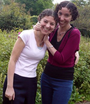 Sisters, Samantha and Diana Shaul, author and illustrator for Stories for My Little Sister, recent photo