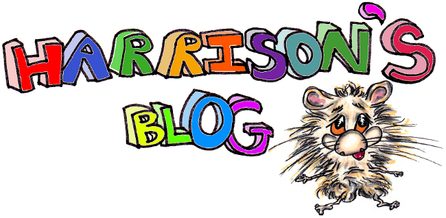 Harrisons Hamster I, blog title with a picture of Harrison